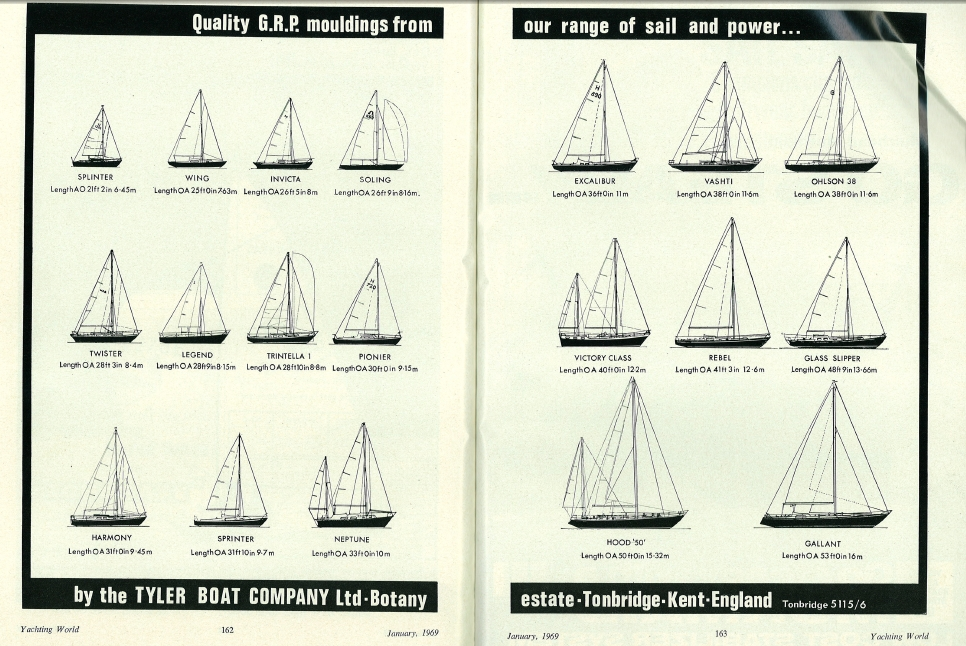 Tyler Boat Co., Yachting World, 1969