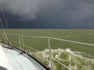 Rain shower 1, IJsselmeer 2013